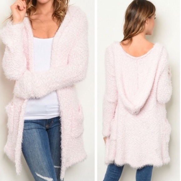 O&O Sweaters - NWT! Best Seller! Lux Blush Pink Hooded Cardigan